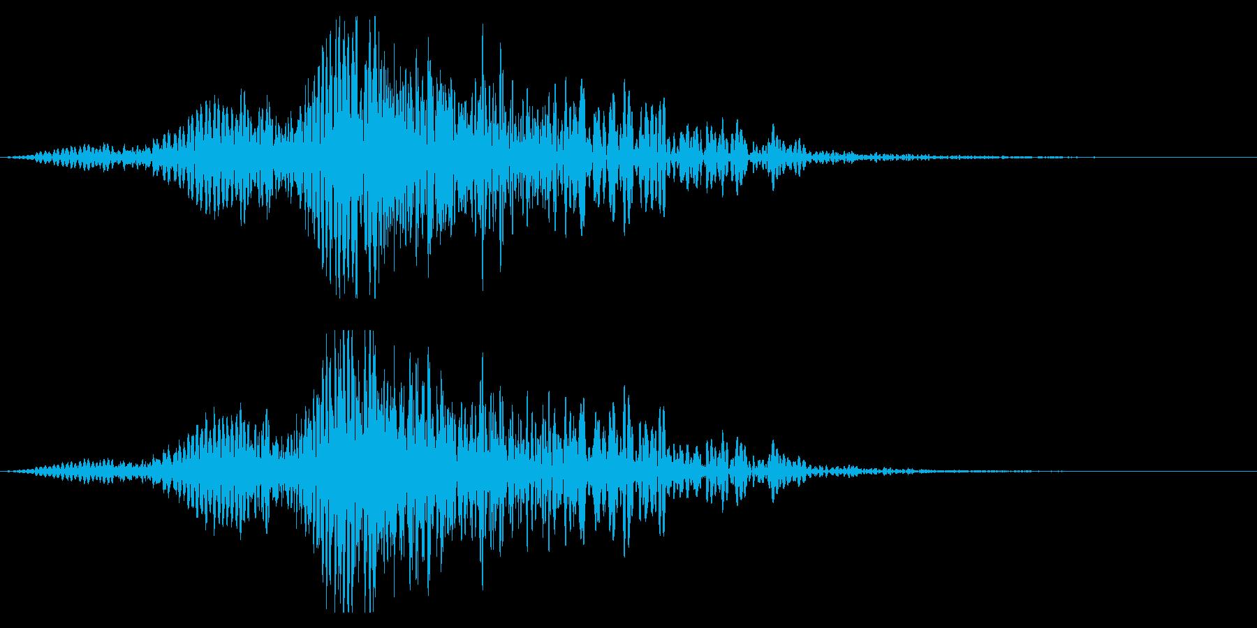 ホラー系アタック音122の再生済みの波形