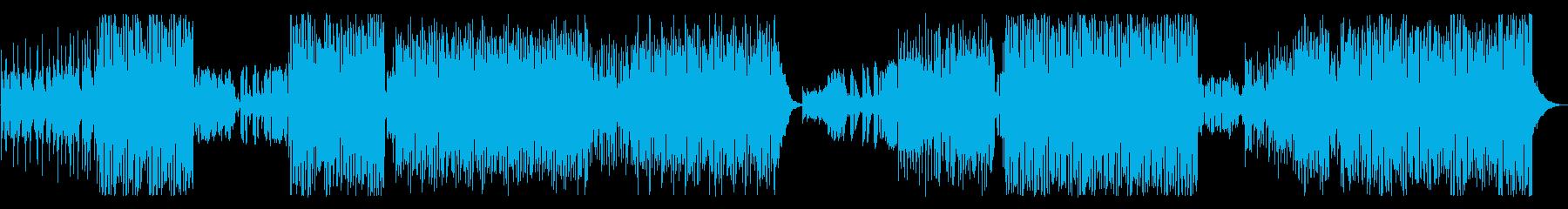 トロピカルハウスをイメージしたEDMの再生済みの波形