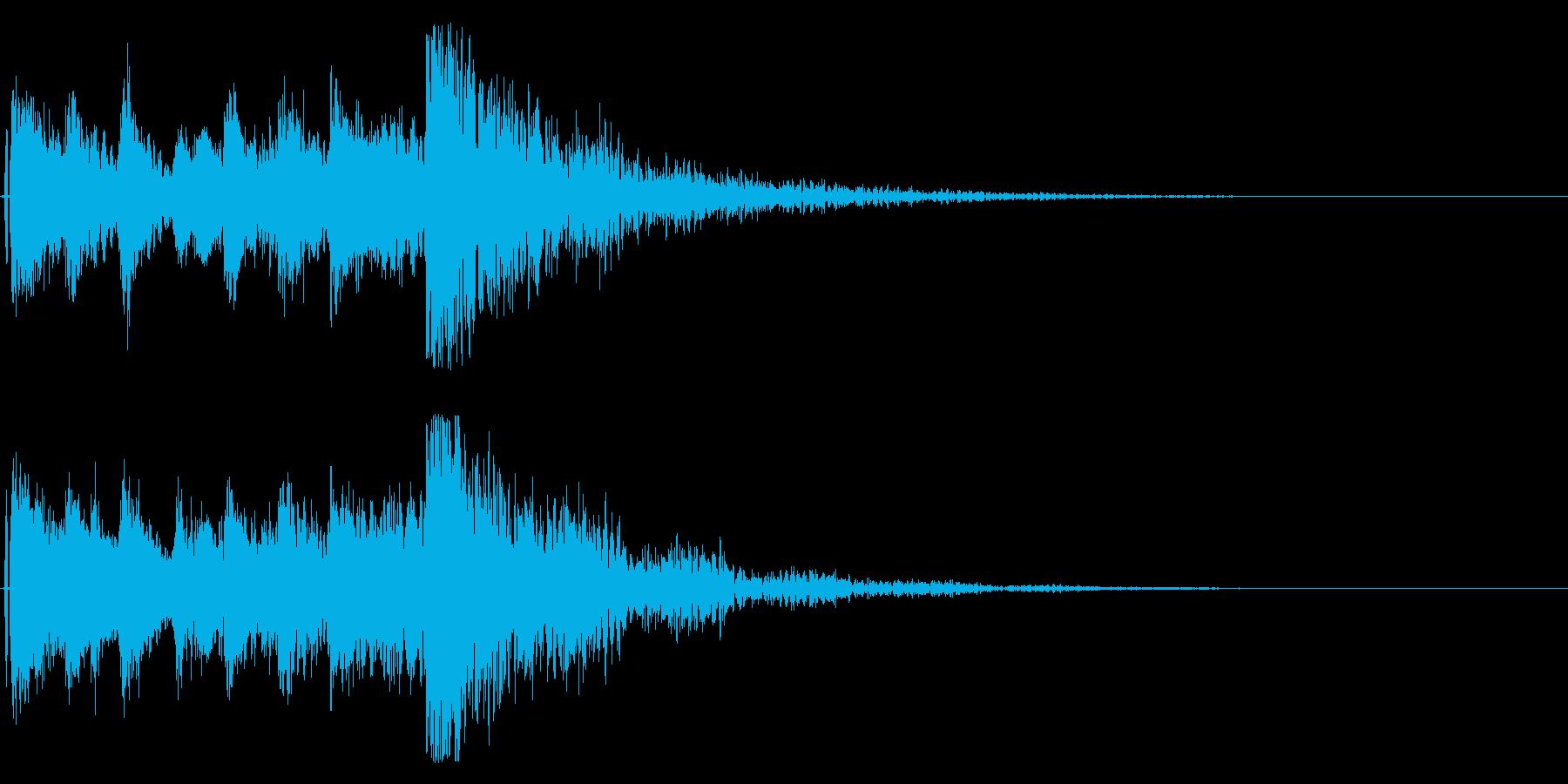 狂言や掛け声、太鼓,鼓の和風演出に最適4の再生済みの波形