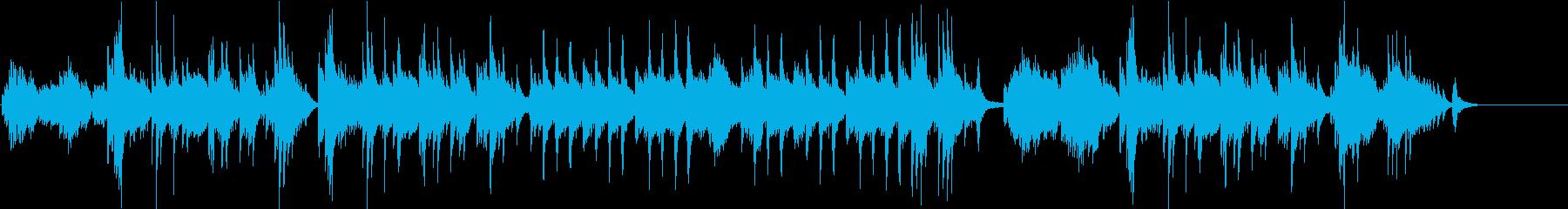 懐かしさを感じる優しいソロピアノ曲の再生済みの波形