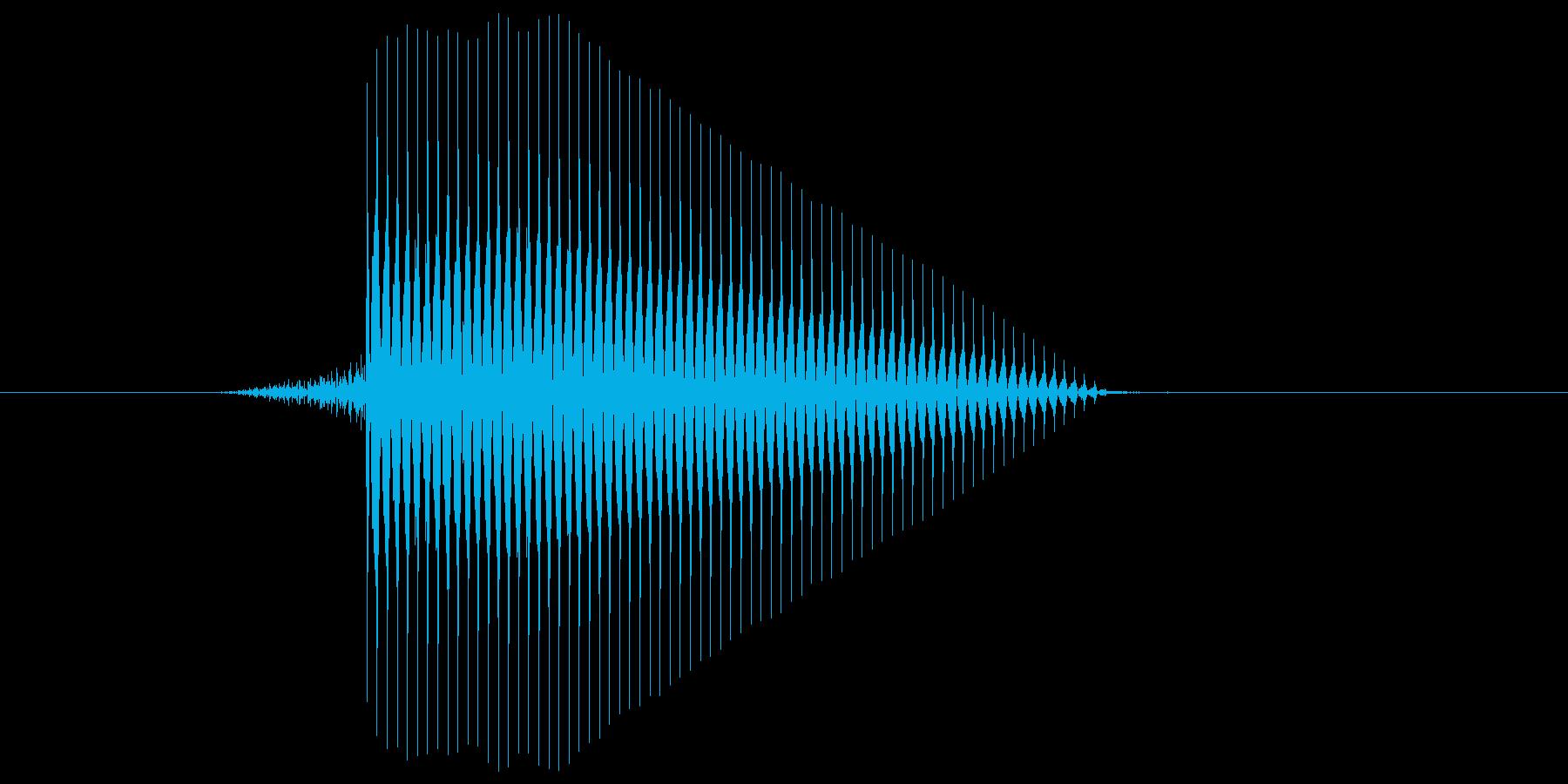 ゲーム(ファミコン風)セレクト音_039の再生済みの波形