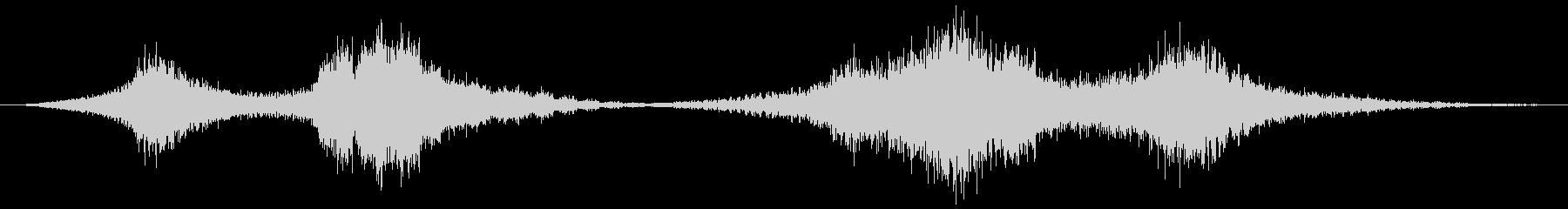 時間の停止や逆行などの抽象的な音#7の未再生の波形