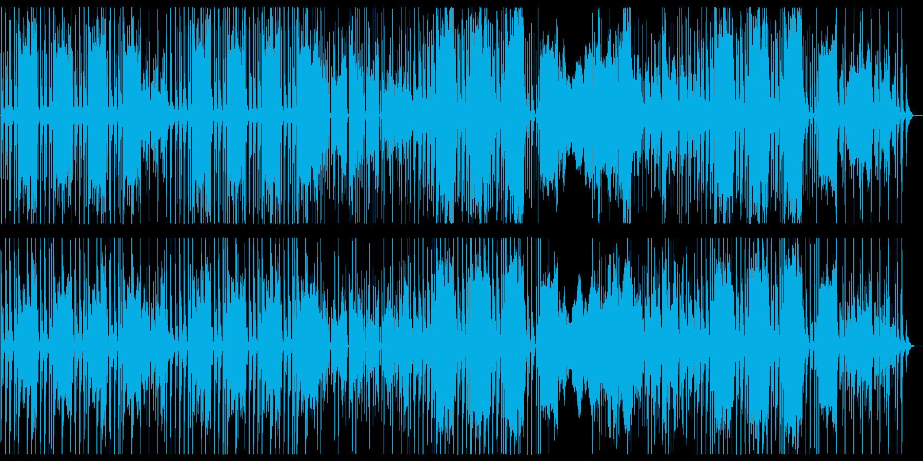 記憶に残りやすい軽快なテンポの曲の再生済みの波形