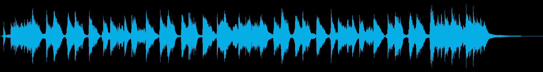 ビールをテーマにした楽曲 15秒ver.の再生済みの波形
