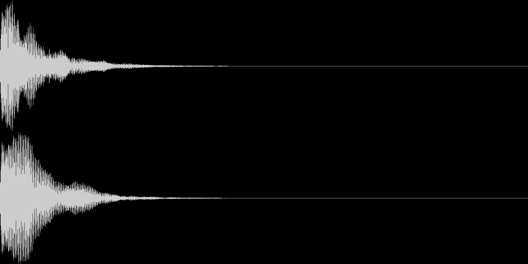 刀 キー 剣 リアル インパクト Mの未再生の波形