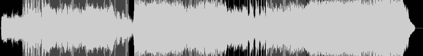 メロディアスなギターロックインストの未再生の波形