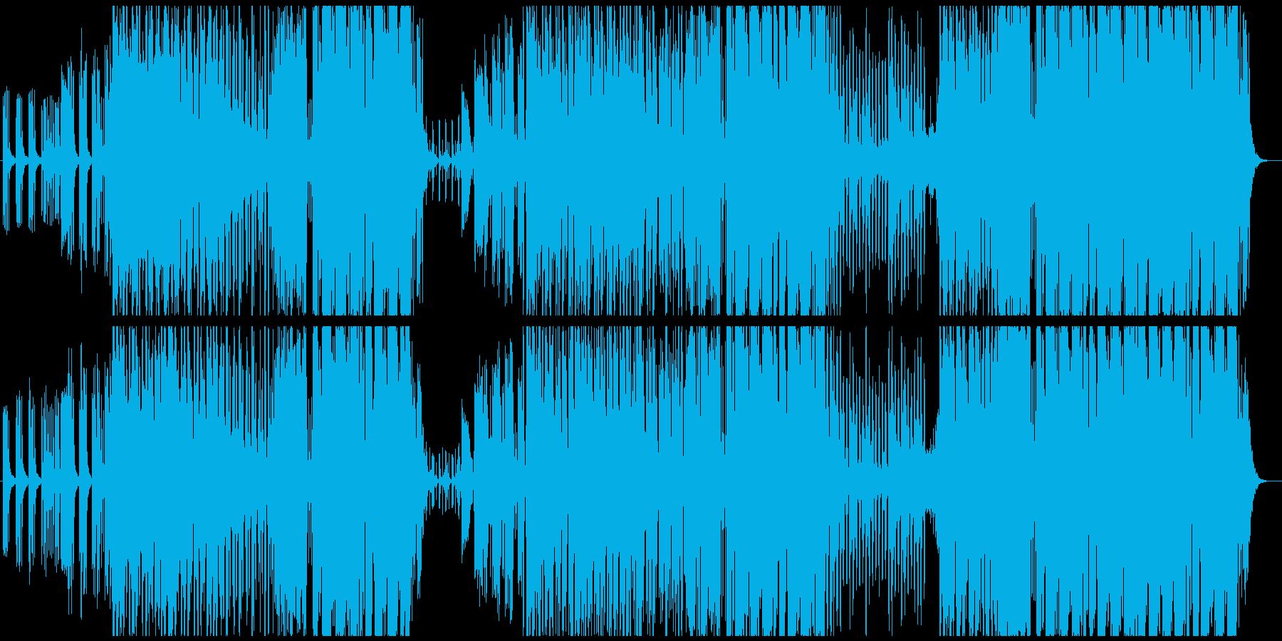 お洒落で切ないトロピカルハウスの再生済みの波形