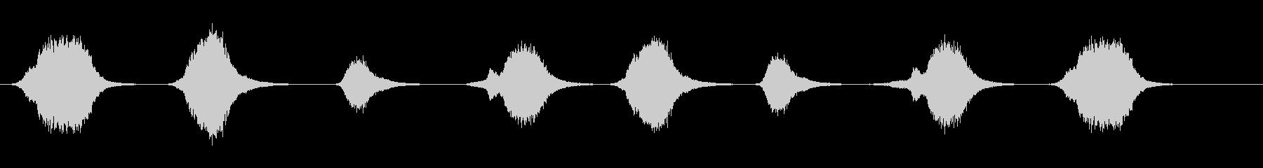 レーザー、大砲:8インスタンスの未再生の波形