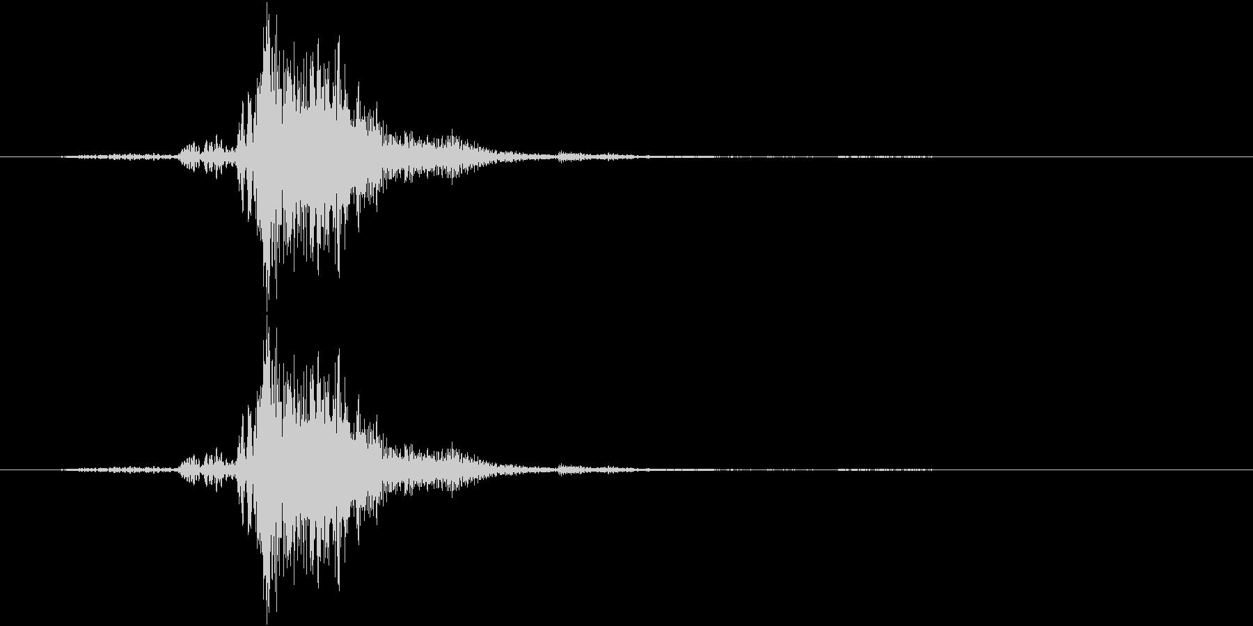 ガチャ(金属系)の未再生の波形