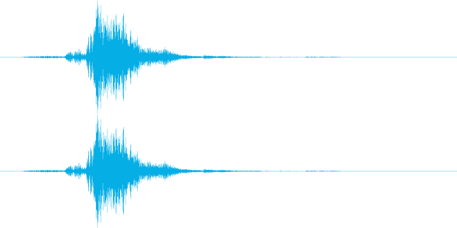 ガチャ(金属系)の再生済みの波形