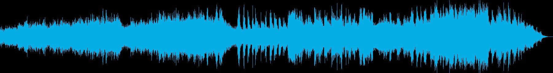 チェロとギターによる物悲しい旋律の再生済みの波形