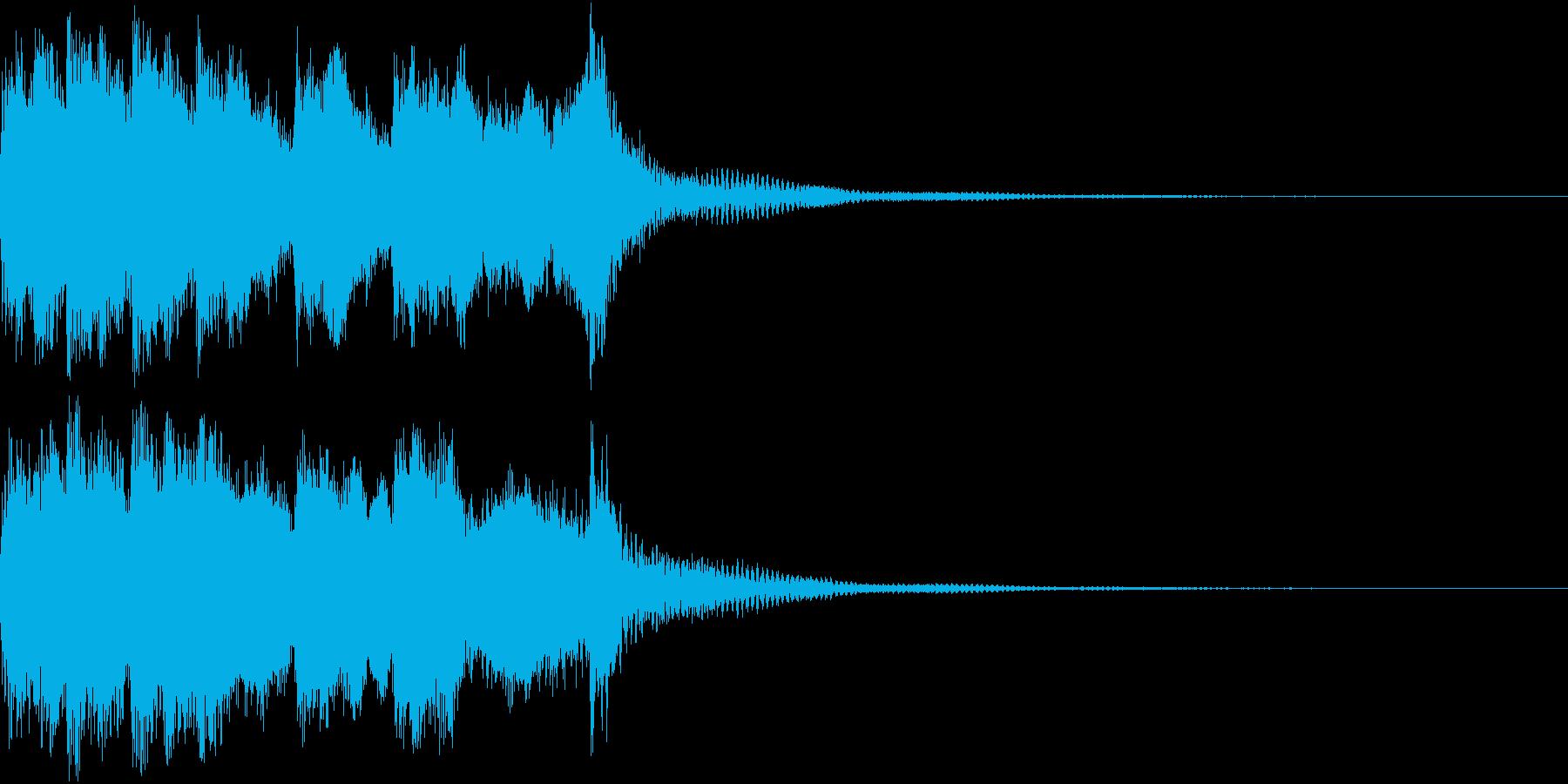 ファンファーレ 当たり 正解 合格 05の再生済みの波形