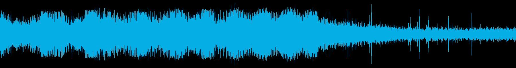 列車の発車する音の再生済みの波形