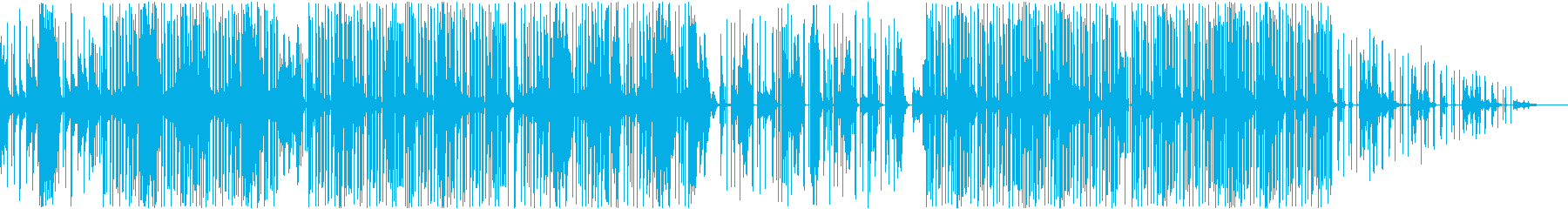 切ない雰囲気のトラップBGMの再生済みの波形