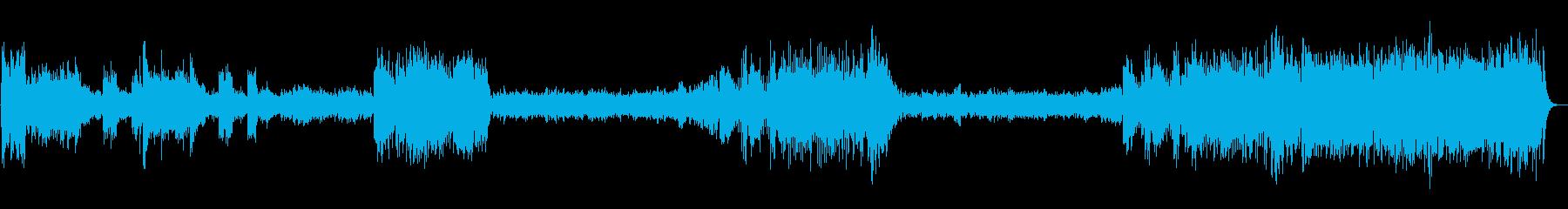 超有名なアメリカの行進曲の再生済みの波形
