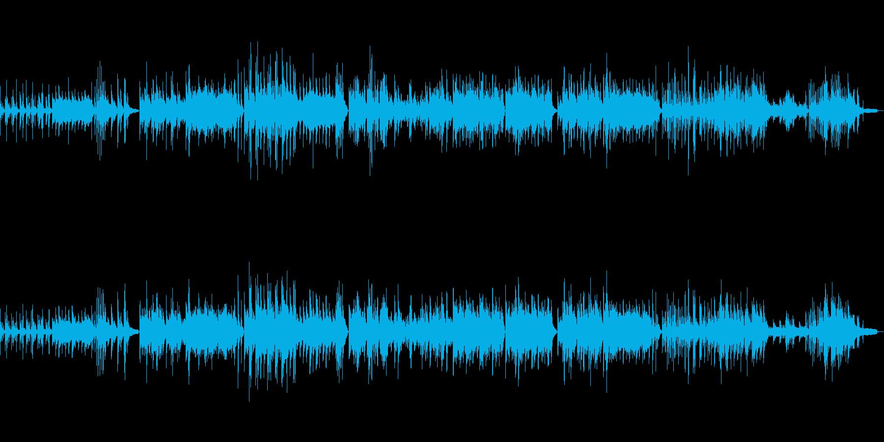 リラックス 和テイストピアノバラードの再生済みの波形