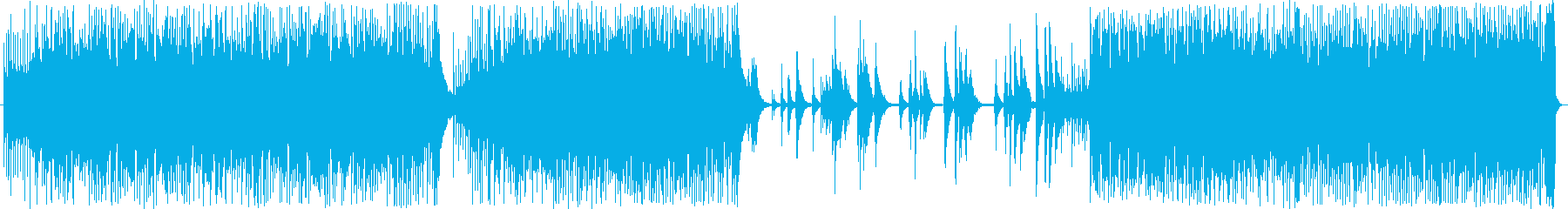決闘シーンの緊迫したイメージの再生済みの波形
