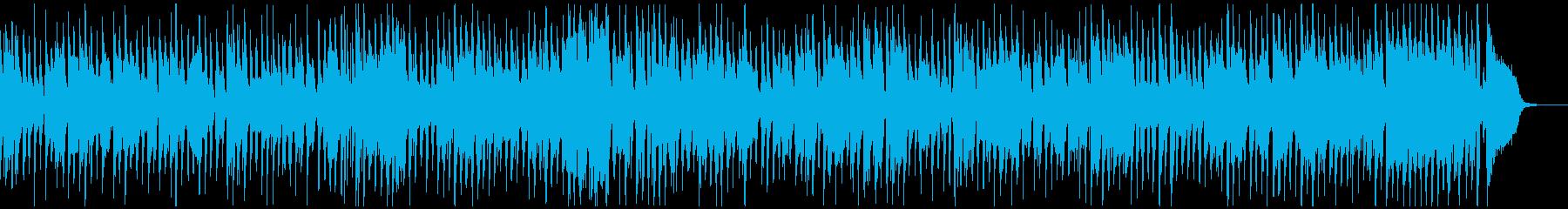 クリスマスムードのリラックスジャズの再生済みの波形