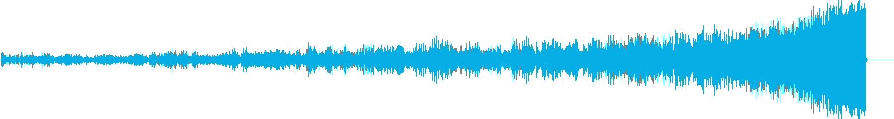 核爆弾の衝撃波の効果音の再生済みの波形