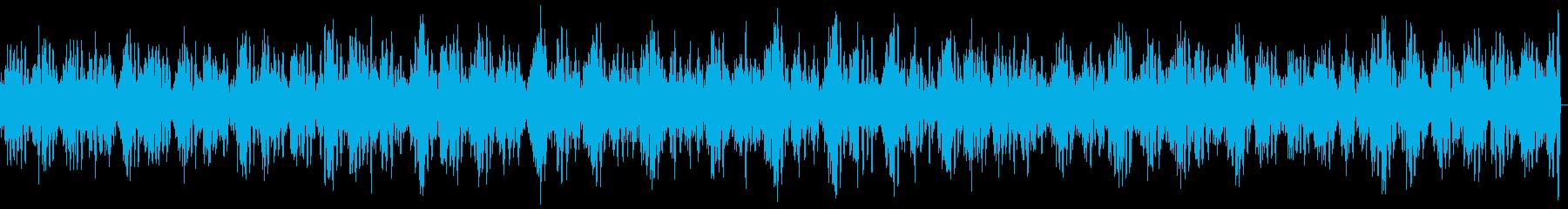 バイクのアイドリング(自動二輪の重低音)の再生済みの波形
