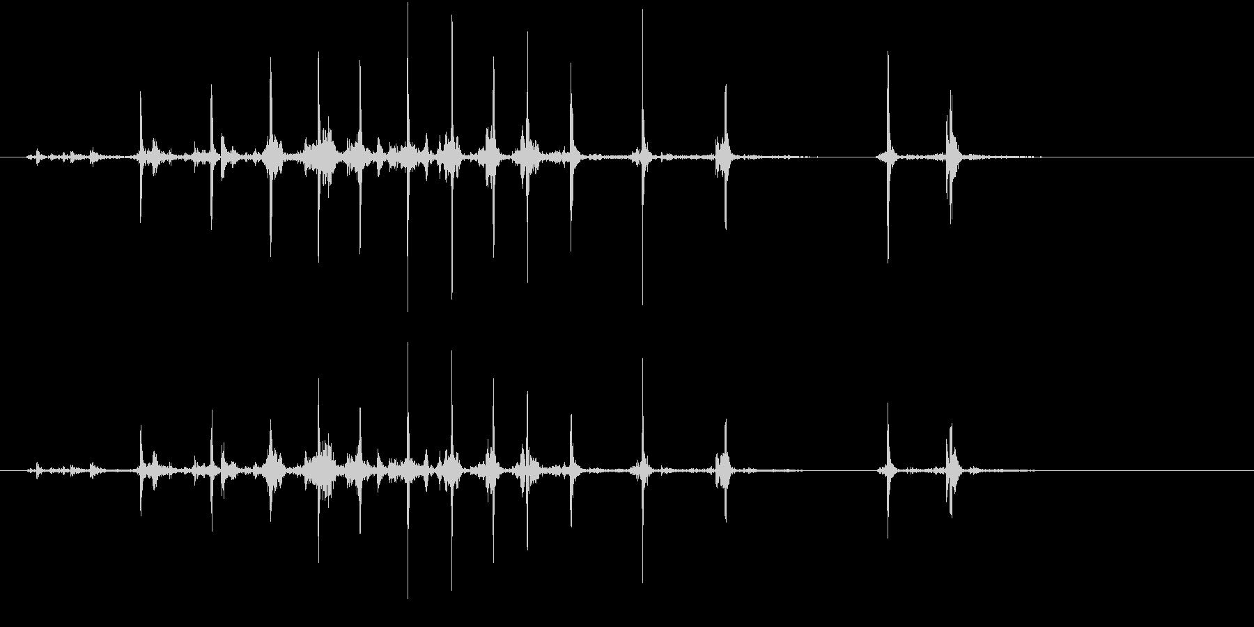 【生録音】カッターナイフの音 17の未再生の波形
