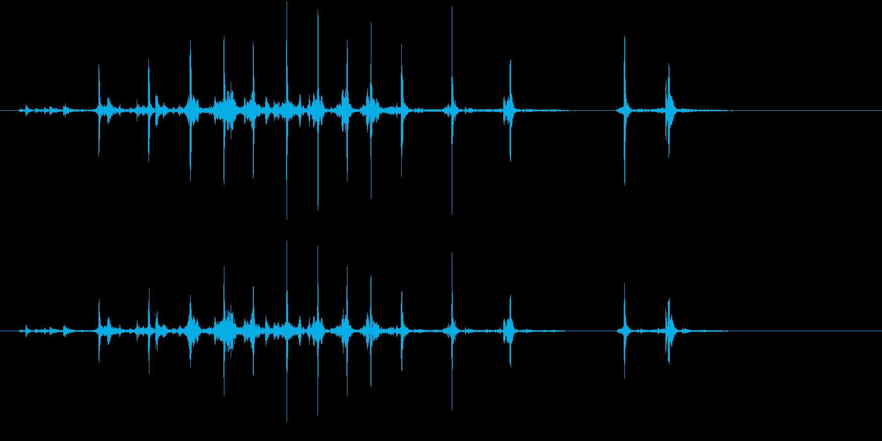【生録音】カッターナイフの音 17の再生済みの波形