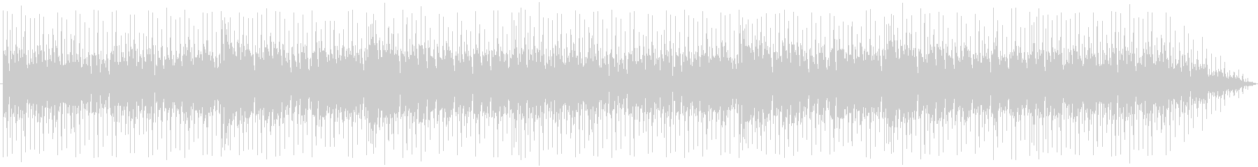 ピアノと溝。ループフルートシーケンス。の未再生の波形