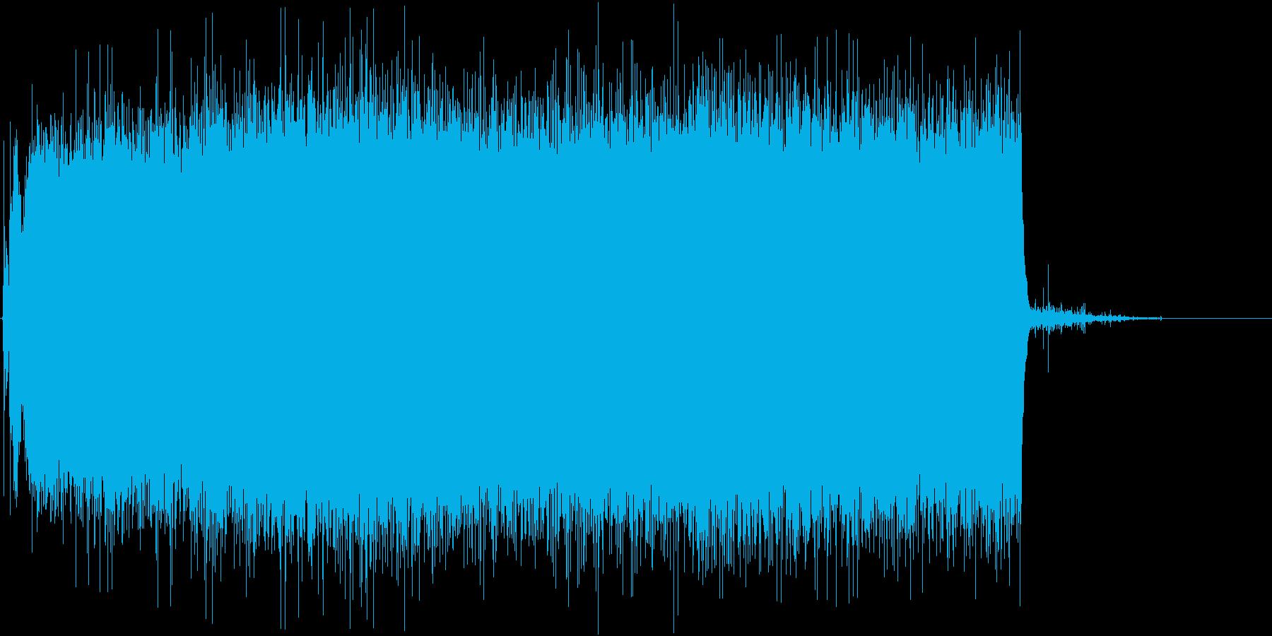 シャワーを出す音(長め、シャーッ、水道)の再生済みの波形