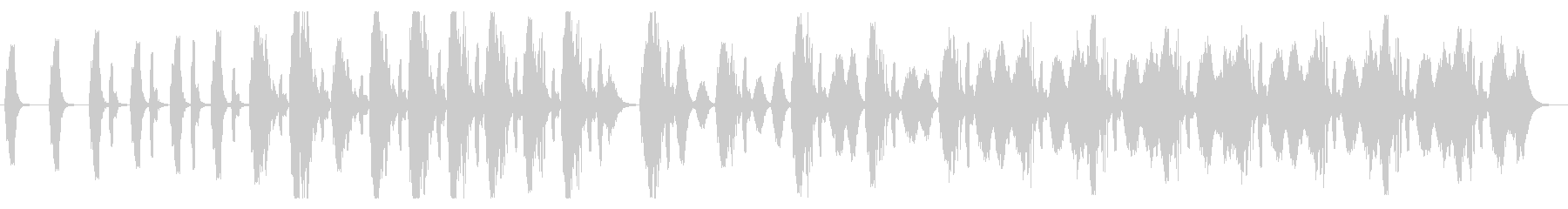 アナログっぽい複雑な警報(レトロSF)の未再生の波形