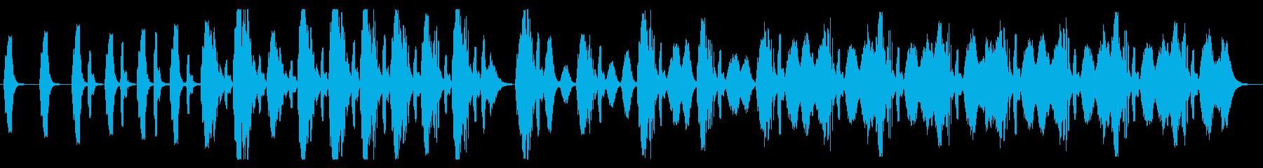 アナログっぽい複雑な警報(レトロSF)の再生済みの波形