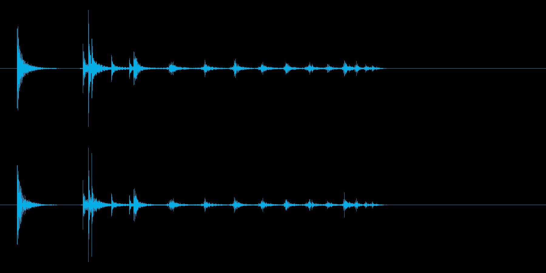 コインの落下音(木板の上)の再生済みの波形