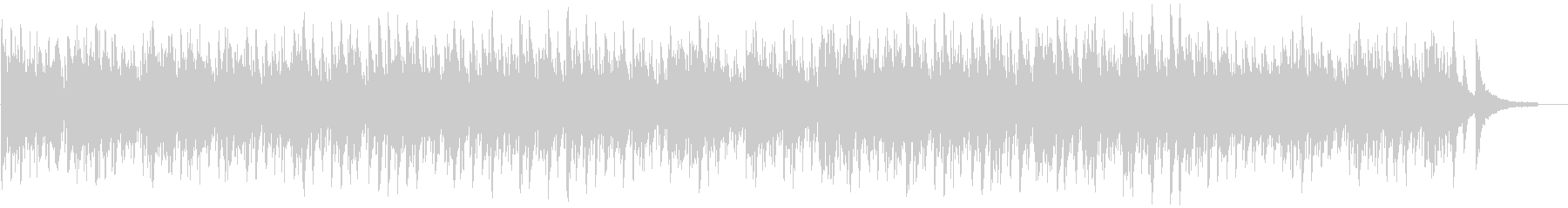 ピアノが優雅でお洒落なボサノバの未再生の波形