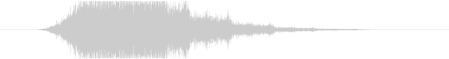 不気味なホラー系の低い効果音の未再生の波形
