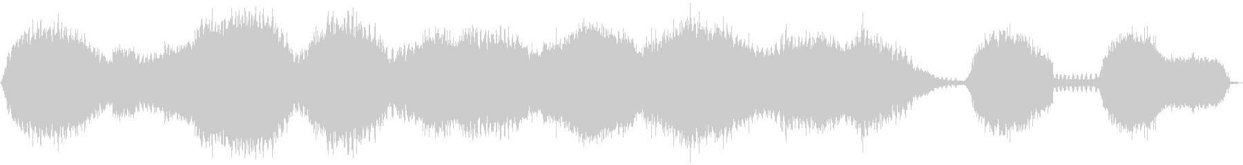 複数匹のハルゼミの鳴き声の未再生の波形