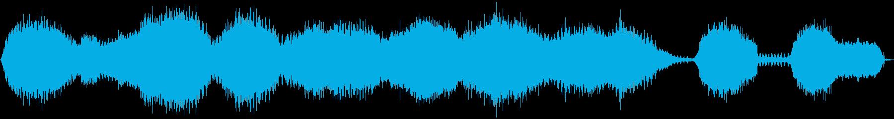 複数匹のハルゼミの鳴き声の再生済みの波形