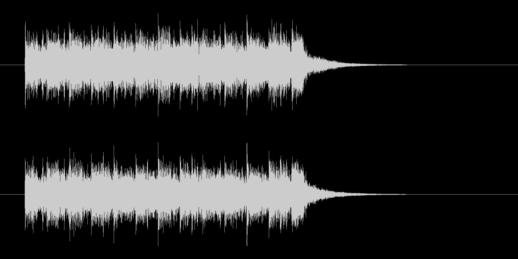 パンクロック調のジングル曲、サウンドロゴの未再生の波形