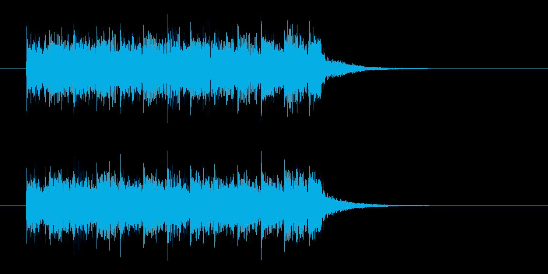 パンクロック調のジングル曲、サウンドロゴの再生済みの波形