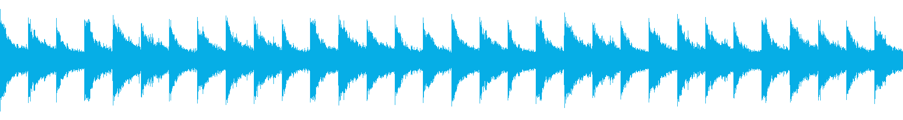 神秘的で広がりのあるアンビエント系BGMの再生済みの波形