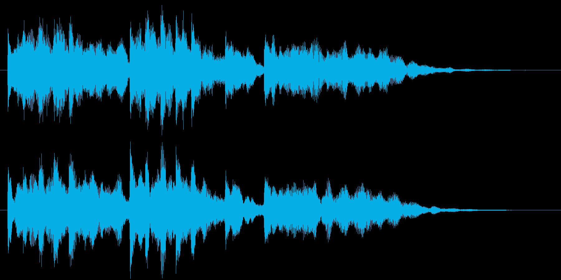 幻想的なジングルの再生済みの波形