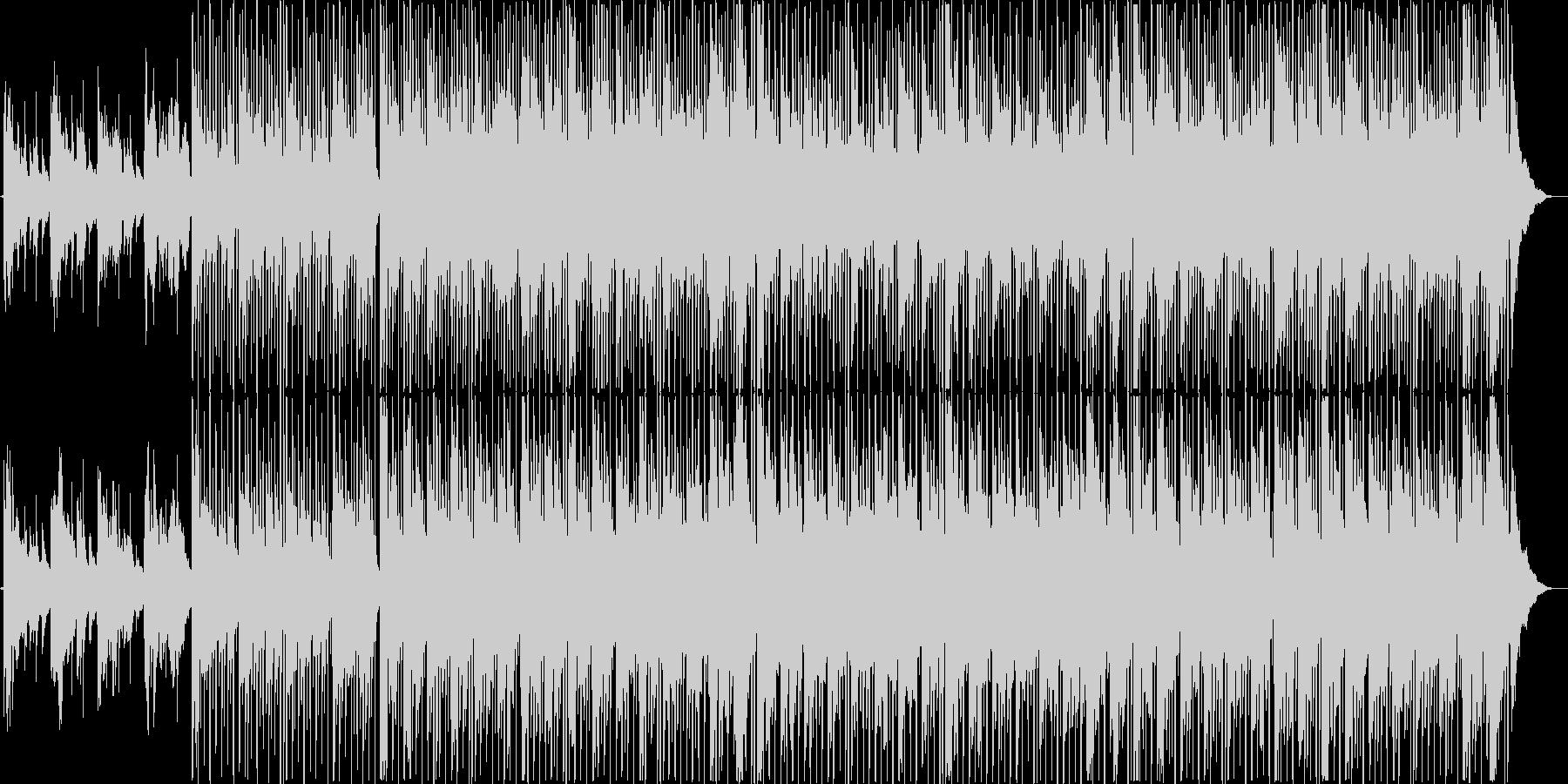 ワクワク感をイメージしたボサノバ風BGMの未再生の波形
