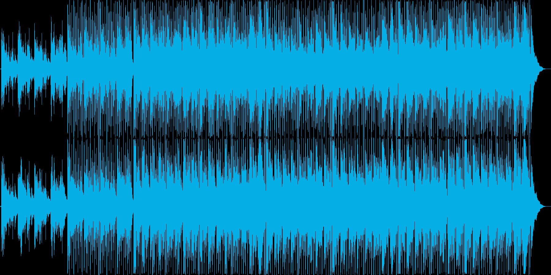 ワクワク感をイメージしたボサノバ風BGMの再生済みの波形