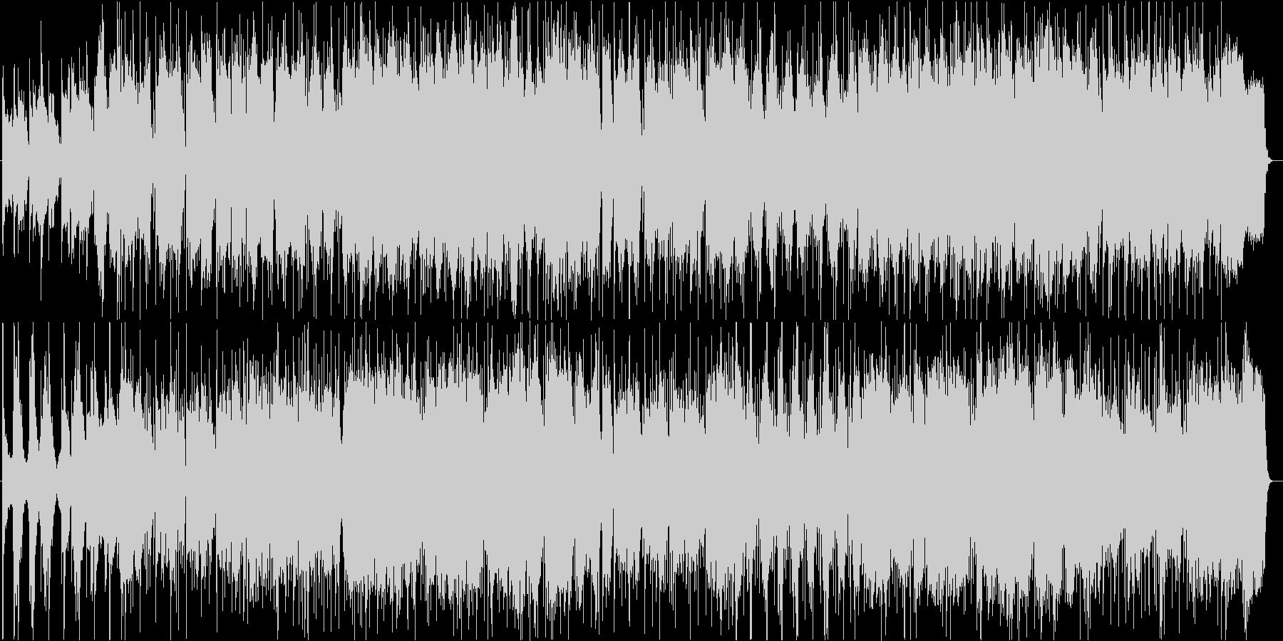 おしゃれで切ないフルートボサノヴァの未再生の波形