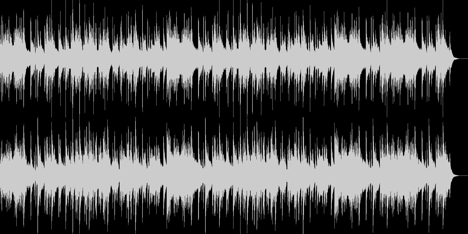 ハープの音色が美しい朝にぴったりな曲の未再生の波形
