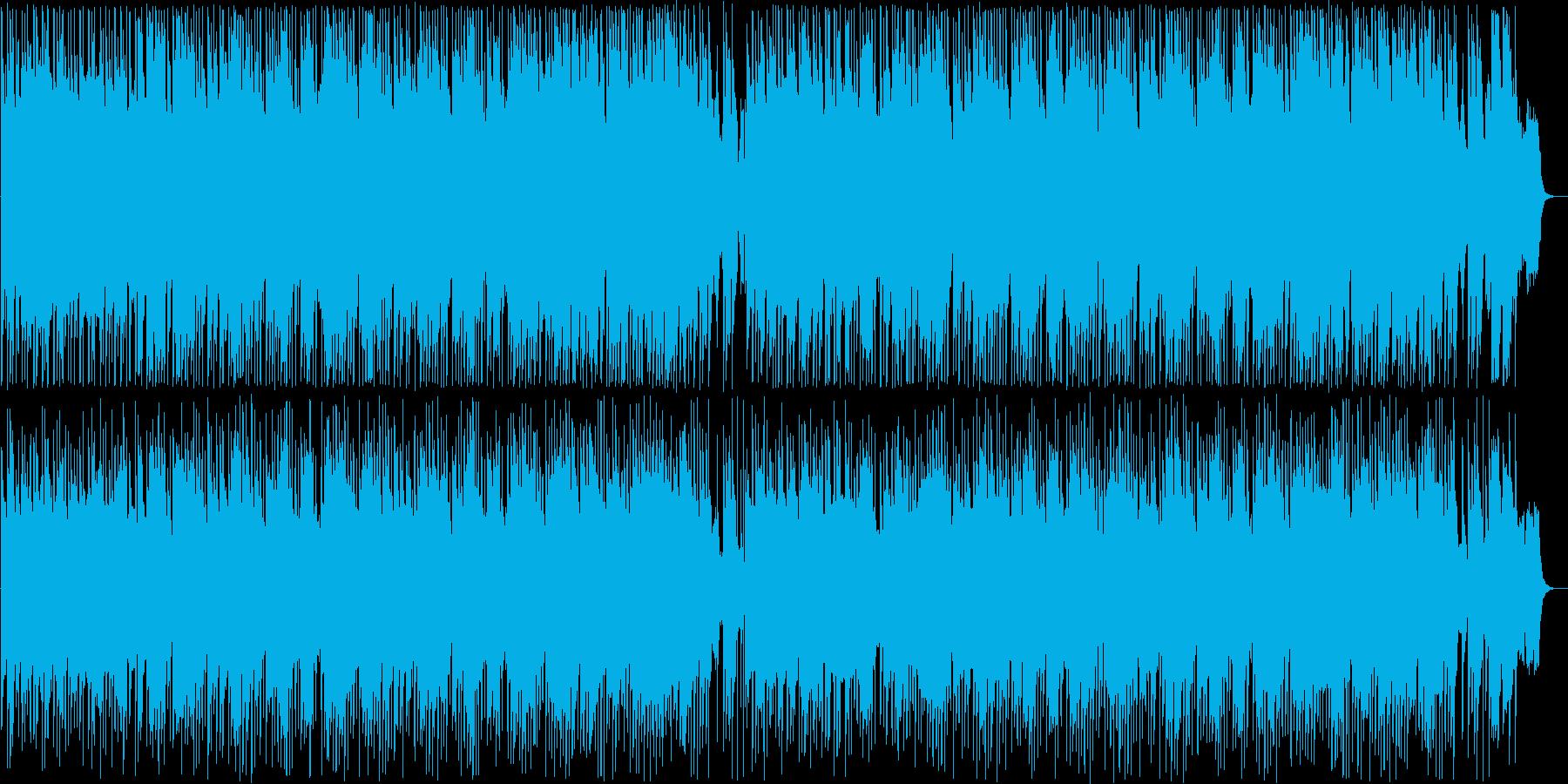 しっとり感のギター・シンセのサウンドの再生済みの波形