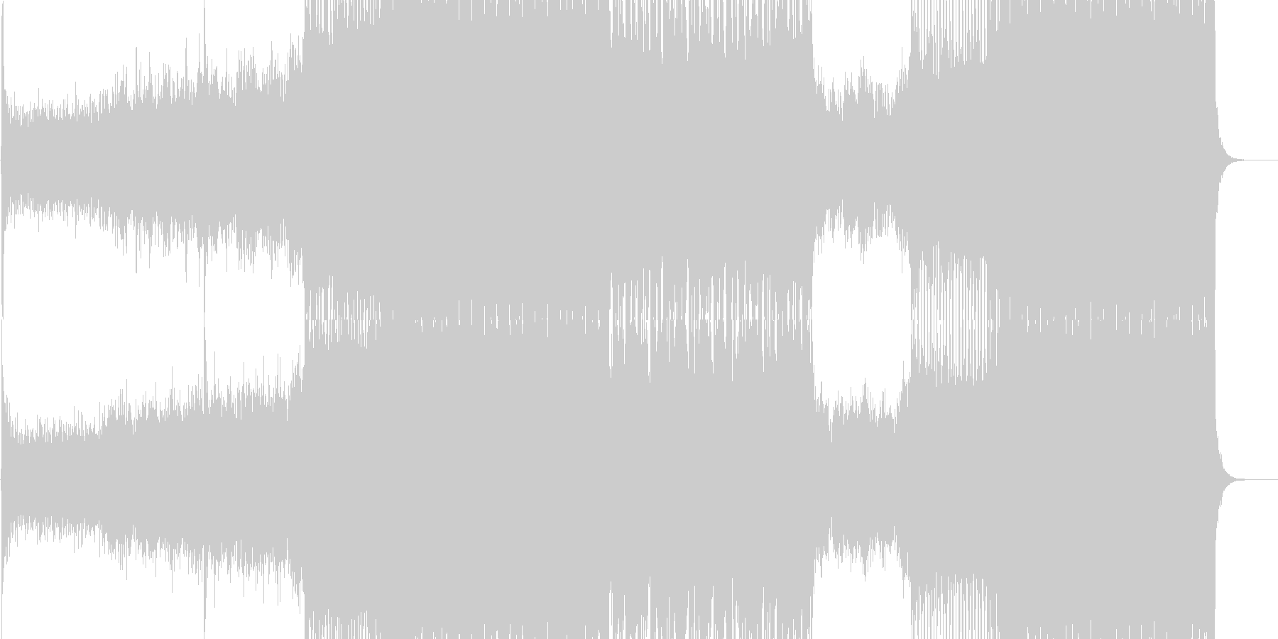 近未来的な音/シューティングゲームBGMの未再生の波形