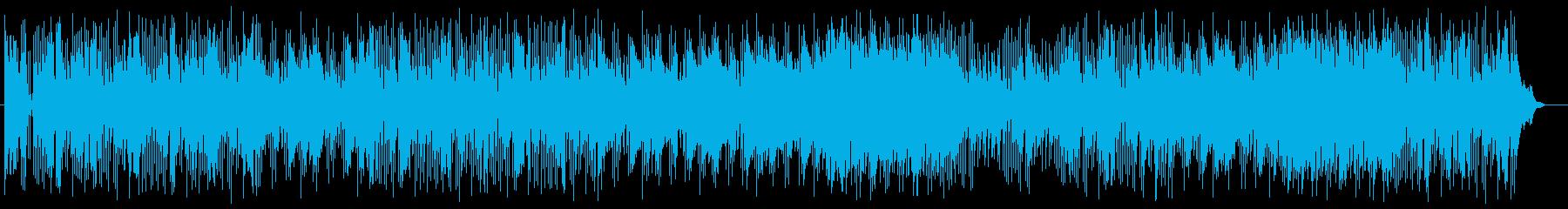 メロディが明るくさわやかなポップスの再生済みの波形