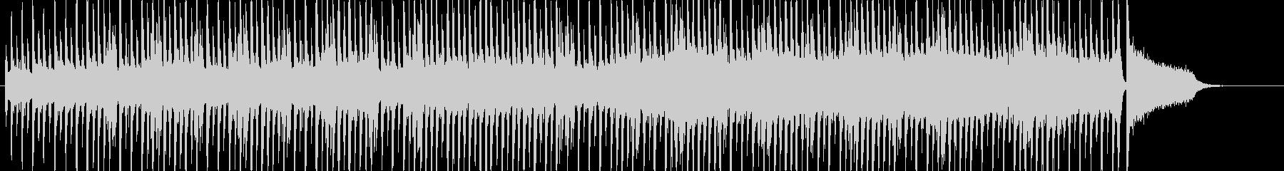 手拍子とアコギ、口笛のほのぼのBGMの未再生の波形