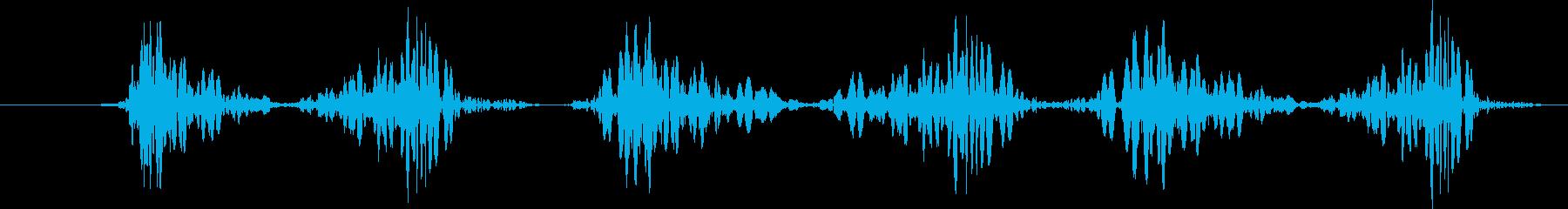 Djドラムスクラッチ、ショート、ス...の再生済みの波形