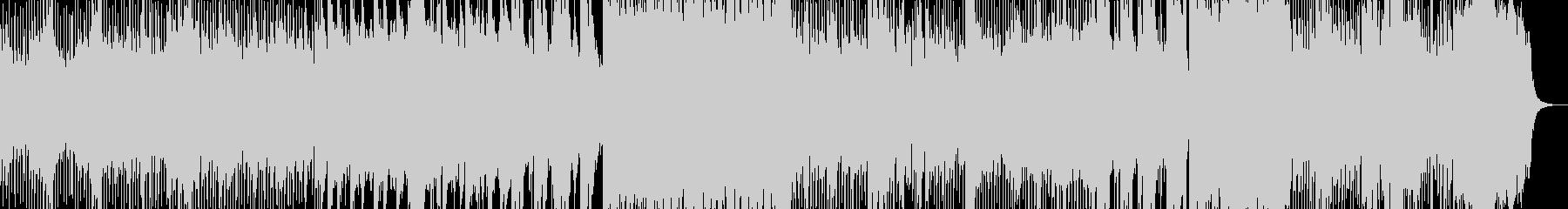 シンセとギターによるロックBGMアニメ風の未再生の波形