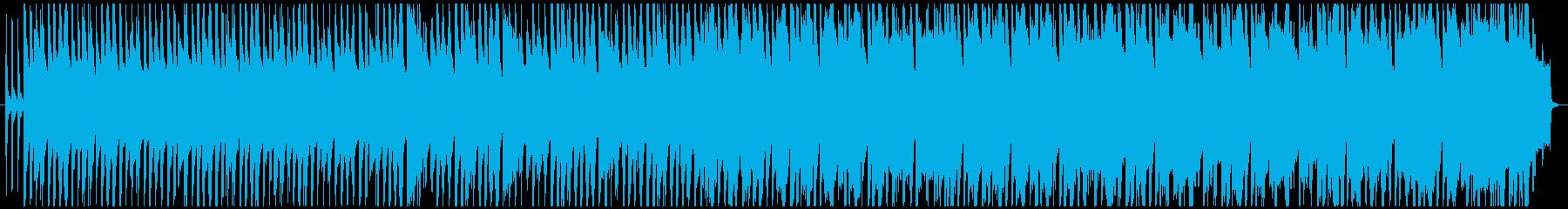 ほのぼの、のんびりとしたカントリー調の曲の再生済みの波形